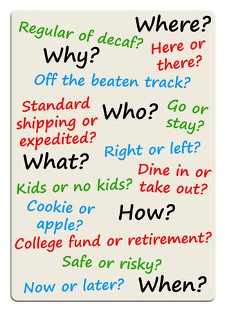 Difficult choices illustration