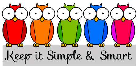 Keep it simple and smart illustration Stock Photo