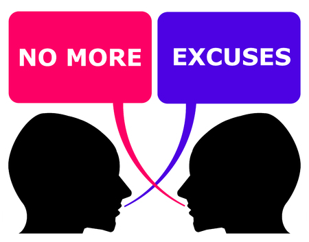 No more excuses illustration