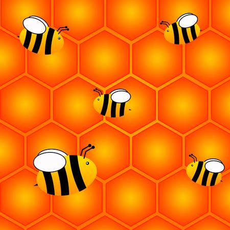 Bees honeycomb illustration
