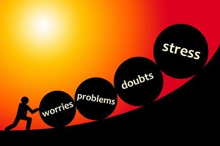 Life problems illustration