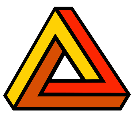 triangle optical illusion illustration 版權商用圖片