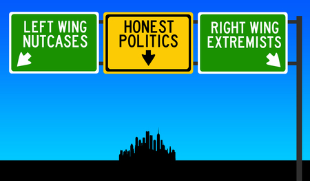 Decent politics illustration Stock Photo