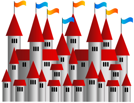 castle village illustration