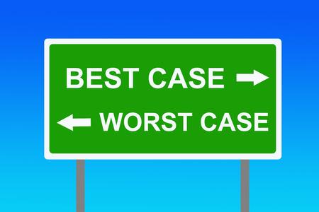 Best worst case scenario illustration Imagens