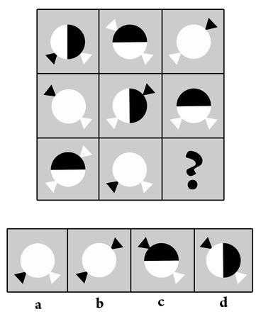 intelligence test illustration Banque d'images - 117045618