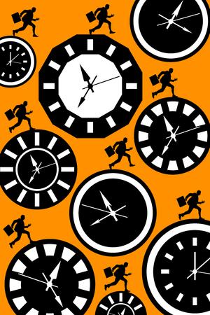 Tight schedule illustration Stock fotó