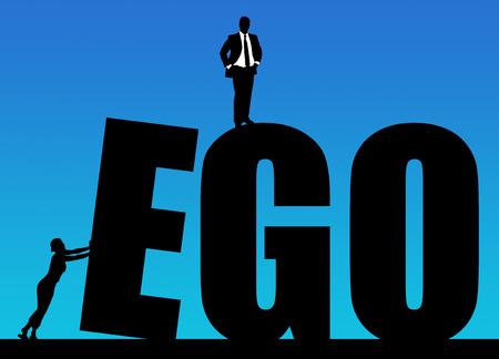 Ego illustration Stock Photo