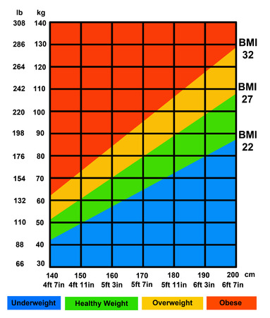 body mass index illustration 版權商用圖片 - 117045461
