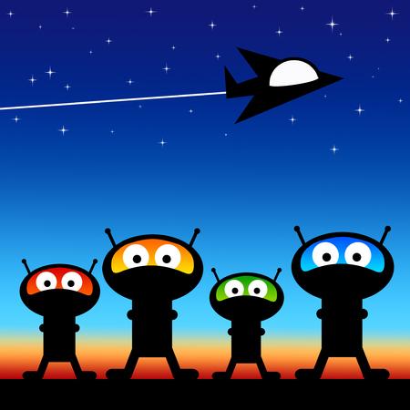 Space aliens illustration