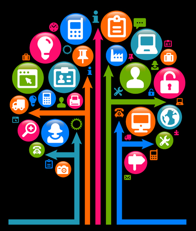 company communication illustration