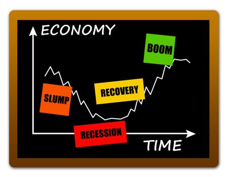 economy ups downs illustration