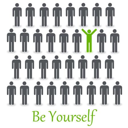 be yourself illustration 免版税图像