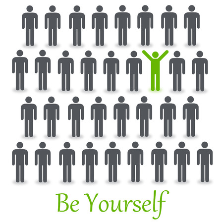 be yourself illustration Stock Photo