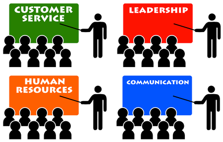 Company workshop illustration