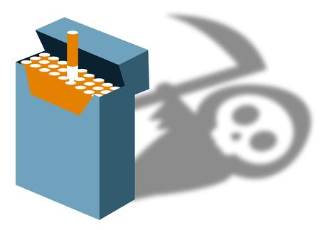 Smoking kills illustration