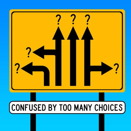 illustrazione di troppe scelte