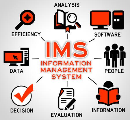 Information management illustration 免版税图像