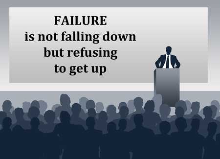 Failure not giving up illustration