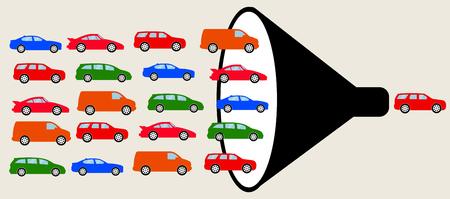 Illustration d'embouteillage