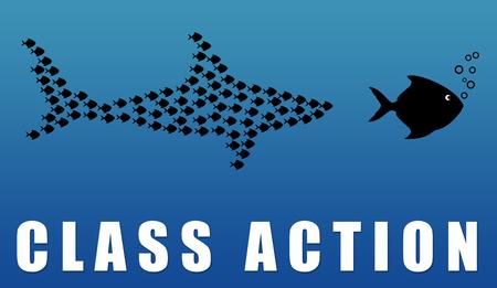 Class action illustration Stock Photo