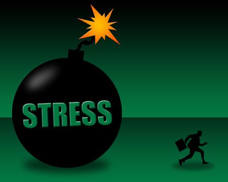 Stress situation illustration Stock Photo