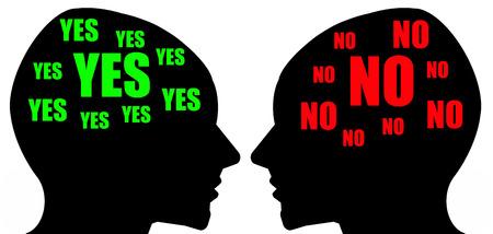 Different opinion illustration