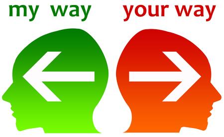 my way your way illustration Stock Photo