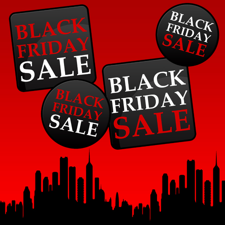 black friday sale illustration Stock Photo
