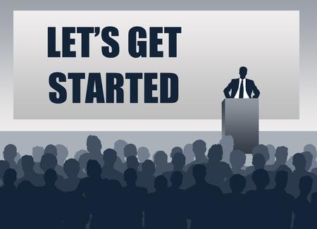 Let`s get started illustration