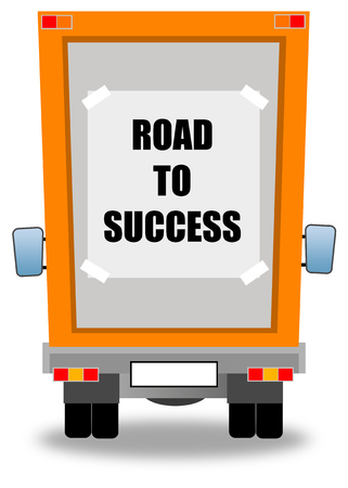 Road to success illustration