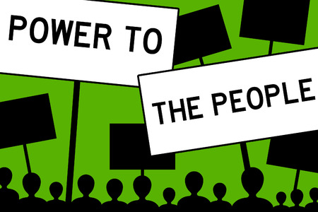 Power to the people illustration