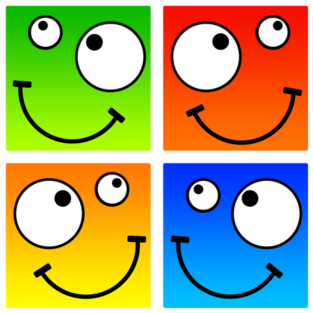 Square smileys illustration