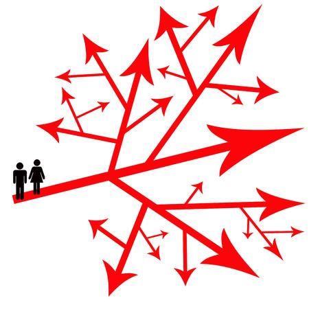 life choices couple illustration