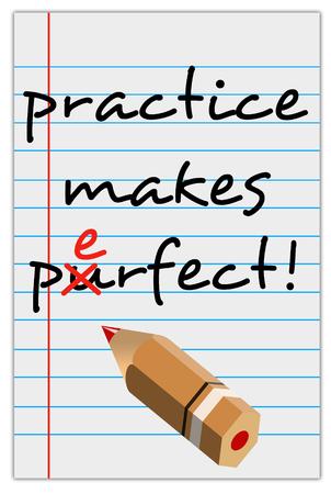 Perfect practice illustration