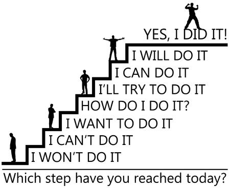 Personal success illustration