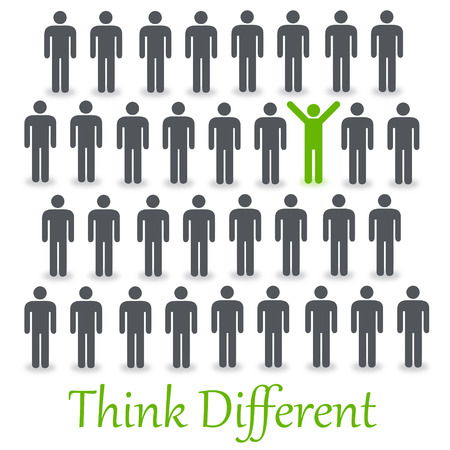 Think different illustration