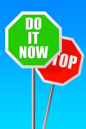 Do it now illustration