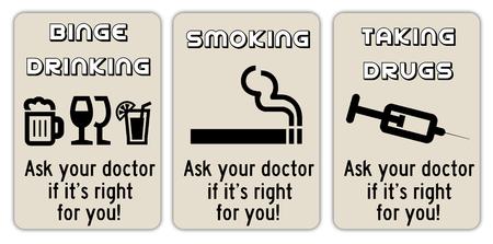 alcohol drugs illustration Stock Photo