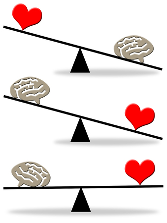 mind heart balance illustration Фото со стока