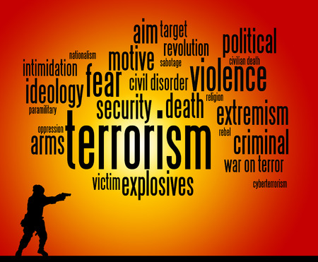 terrorism illustration Banque d'images
