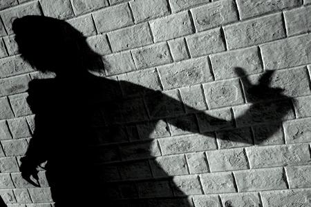 ombra del muro Archivio Fotografico