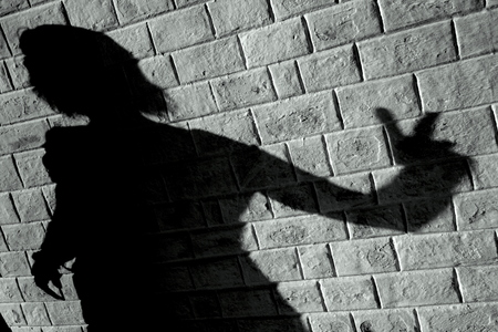 wall shadow Stock Photo