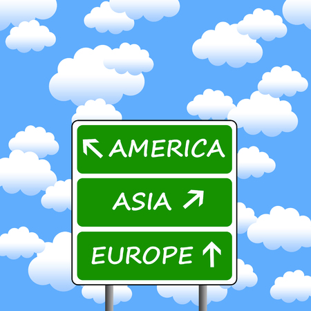 worldwide travel illustration