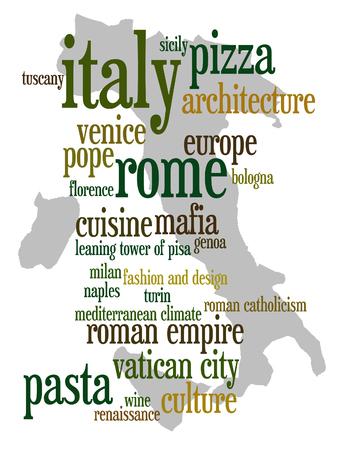 Italy tourism illustration Stok Fotoğraf