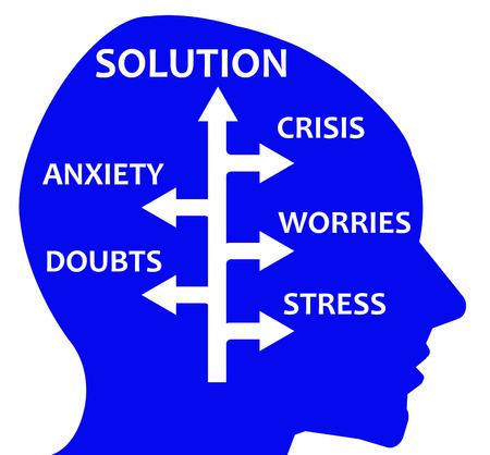 life problem solution illustration