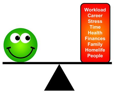 life balance illustration Фото со стока