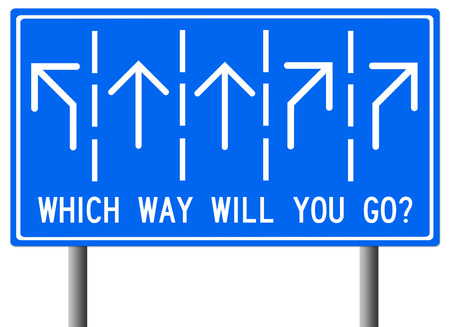 which way life career illustration