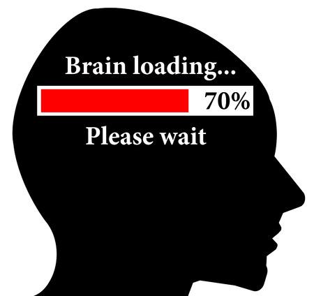 brain loading illustration