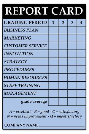 company report card illustration